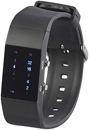 St. Leonhard Digitale Armbanduhr: Binär-Armbanduhr Future Line mit Blauer Anzeige, für Damen (Binäruhren)
