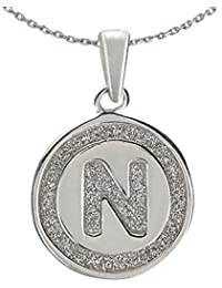 Ananth Jewels 925 Silver Letter N BIS Hallmarked Pendant With Chain For Men And Women