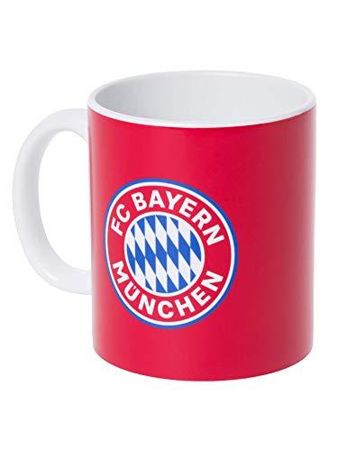 FC Bayern München Tasse rot mit Logo, offizieller Kaffee-Becher für FCB-Fans - Klick Schreibtisch