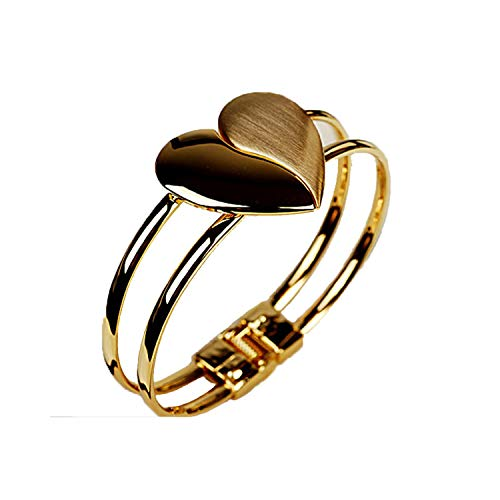 Armband Armreif, Schmuckgeschenk, Double Layer Classic Scrub Heart Cuff Bracelet for Women Jewelry Vintage Multilayer Hollow Out Bracelet (New Balance-scrubs)