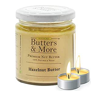 Butters & More Vegan Natural Hazelnut Butter (200G) Unsweetened Single Ingredient Nut Butter. with a Surprise Diwali Gift!