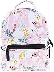 3D Printed Women Mini Backpack For Girls Kids School Bag Baby Pineapple Flamingo Printing Kindergarten Canvas Schoolbag For