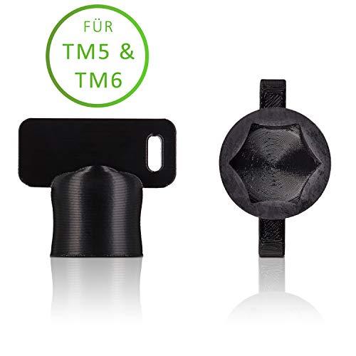 Der TeigTurner von Qitchen - Teiglöser für Thermomix TM6 und TM5 - Die Drehhilfe für Ihre Küchenmaschine von Vorwerk   Unsere Messerdrehhilfe als optimales Thermomix Zubehör (Schwarz)