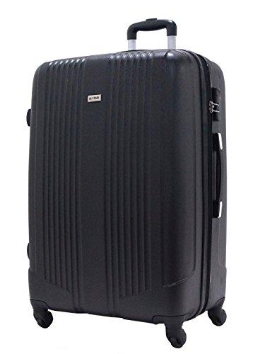 Valigia di Grandi Dimensioni 75 centimetri - ALISTAIR Airo - ABS ultra leggero - 4 ruote - Nero
