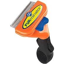 FURminator deShedding-Pflegewerkzeug, Enthaarungs-Bürste, Größe M, für kurzes Fell, 6,7cm–Orange