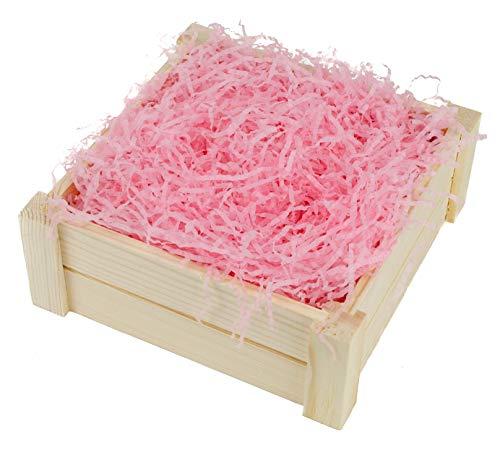 Geschreddertes Seidenpapier, 100 g, ideal für Geschenkkörbe und Geschenkboxen, Pink