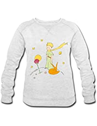 Spreadshirt The Little Prince With Fox and Rose Women's Organic Sweatshirt by Stanley & Stella