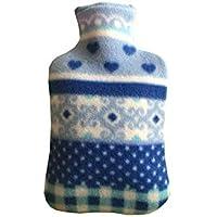 Tofree Wärmflasche, 2000 ml, großes Fassungsvermögen, 31 x 20 cm, mit Fleece-Bezug preisvergleich bei billige-tabletten.eu