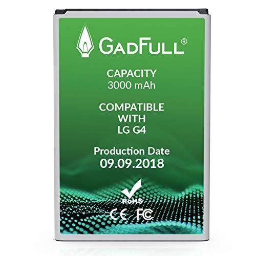 GadFull Akku kompatible mit LG G4   2018 Baujahr   Entspricht dem original BL-51YF   Lithium-Ionen-Akku Kompatible mit LG G4   G4 Dual SIM G4 Stylus   H815   H818P   H635   Perfekt als Ersatz-Akku