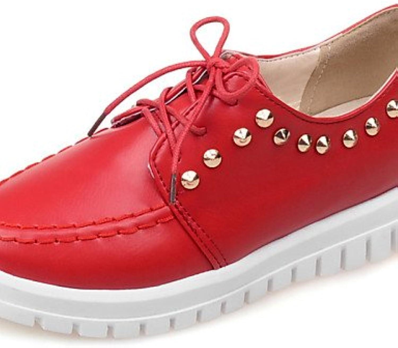 ZQ hug Zapatos de mujer-Plataforma-Comfort / Punta Redonda-Oxfords-Casual-Semicuero-Negro / Rojo / Blanco / Beige...