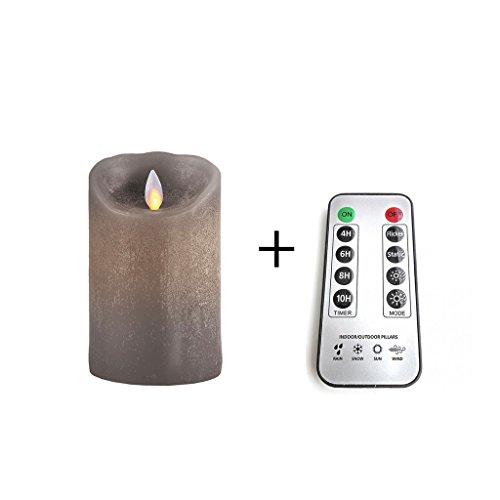 Sompex - Vela LED (cera verdadera, mando a distancia), diseño clásico, color marrón