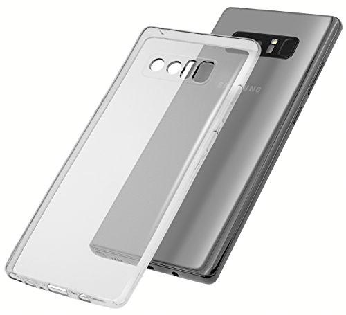 mumbi Hülle für Samsung Galaxy Note8 Schutzhülle transparent - UV beschichtet + Kameraschutz