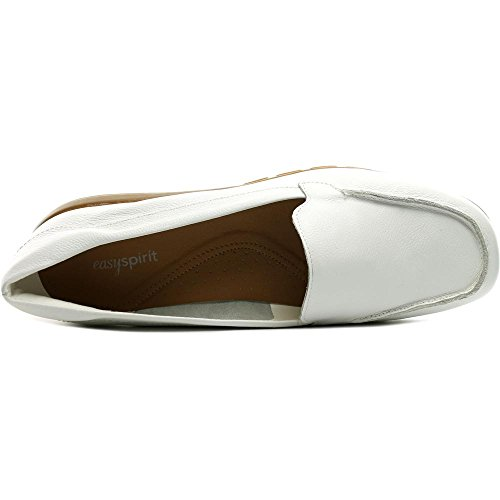 Easy Spirit Abidet Breit Rund Leder Slipper White
