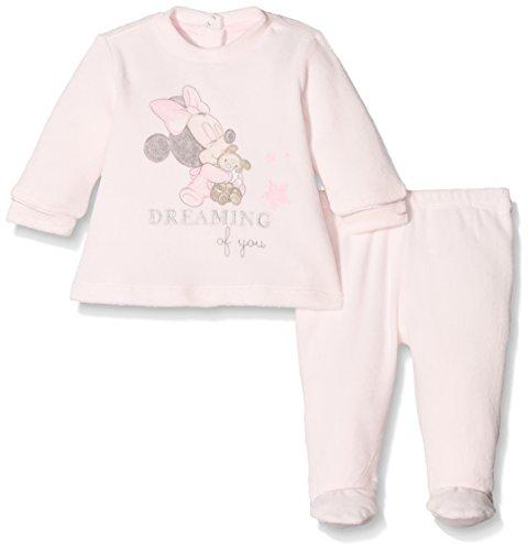 Disney 09077792000000, tutina bimba, (rosa chiaro 011), (taglia produttore:001-0-1m)(pacco da 2)