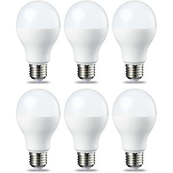 Amazonbasics Bombilla LED Esférica E27, 9W (Equivalente a 60W), Blanco Cálido
