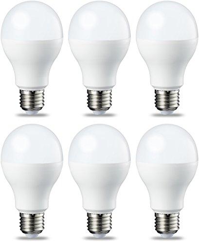 AmazonBasics Lampadina LED E27, 14W (equivalenti a 100W), Luce Bianca...
