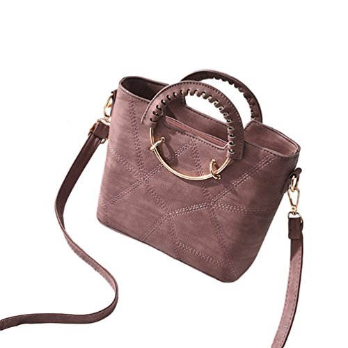 Leder Frauen Tote Pink Mode Umhängetasche Schultertasche PU Crossbody Dunkel Tasche Handtaschen Baymate 6Rptxqp