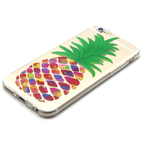 Voguecase® Per Apple iPhone 5 5G 5S Custodia fit ultra sottile Silicone Morbido Flessibile TPU Custodia Case Cover Protettivo Skin Caso (lupo) Con Stilo Penna pittura ananas