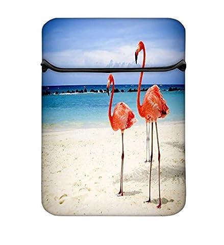Flamingos 8à 21,8cm Housse pour ordinateur portable avec fermeture Éclair et Intégré de 2poches pour chargeur & Mouse