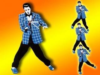 Orologio da parete a pendolo - Dancing Elvis - Presley ROCK 'N' ROLL CLOCK