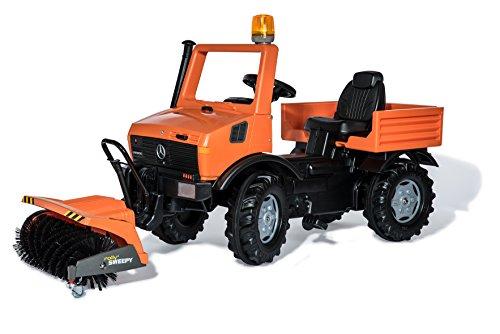 Service Unimog, mit Vorbaukehrmaschine Sweepy, und Flashlight, Farbe Orange