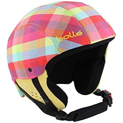 Bollé casco da sci da donna Snow board casco da sci BLISS Pink plaid, Donna, scozzese rosa, XS (54 cm)