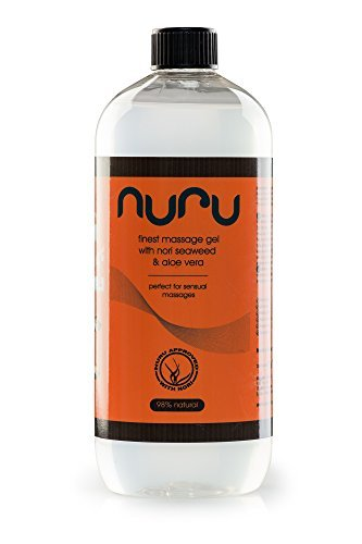 Nuru® Gel Massagegel 1000 ml - wasserbasiert, hervorragende gleitfähgkeit, erstklassige Inhaltsstoffe, hautfreundlich, nicht-klebend, geruchslos, ohne Farbstoffe/Parabene, natürlich, für eine bessere Massage und ein schönes Happy End (Liebe-gel-massage)