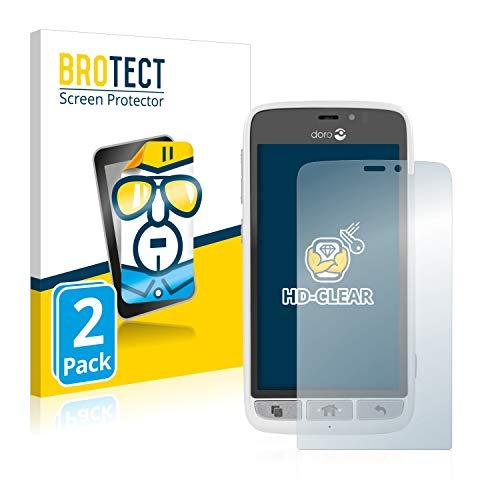 BROTECT Schutzfolie für Doro 8031 [2er Pack] - klarer Displayschutz