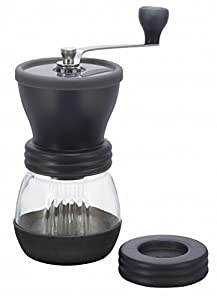 2XHario Medium Glass Hand Coffee Grinder with Ceramic Burrs, Clear