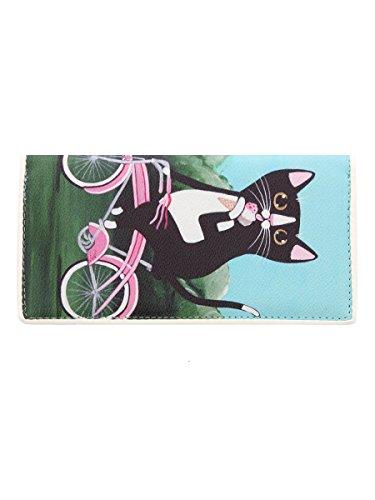 Portefeuille Ashley M Ice Kitty on Bike 19,5 x 10 cm Femme