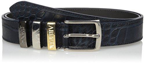 921019DARK NAVY Armani Jeans Cintura in pelle Blu nero 2 Donna