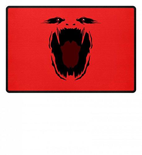 Hochwertige Fußmatte - Monster Gesicht Gruselig Halloween - Schlichtes Und Witziges Design