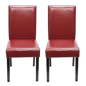 Set 2x sedie littau pelle per sala da pranzo 43x56x90cm - Sedie cucina amazon ...