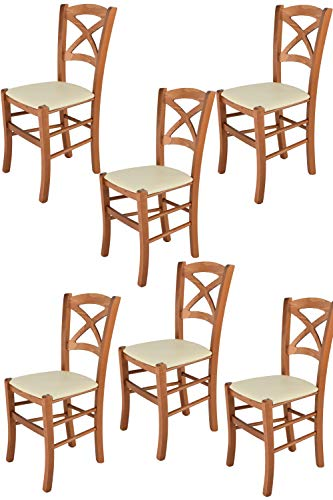 Tommychairs sillas de Design - Set de 6 Sillas Modelo Cross para...