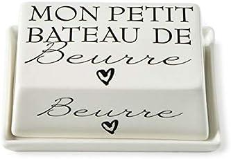 Riviera Maison - Butterdose - Beurre - Porzellan - (LxBxH): 14 x 10 x 5 cm