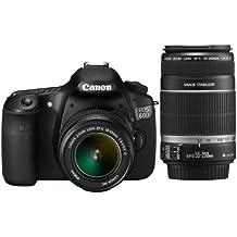 Canon EOS 60D - Cámara Réflex Digital 18 MP (Objetivo 18-55mm IS + EF 55-250mm IS)