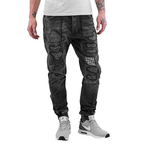 Just Rhyse Herren Jeans / Antifit Checked Schwarz