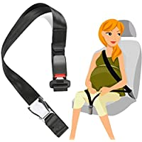 Arkmiido Pregnancy Seat Belt, Maternity Car Belt Adjuster, Comfortable Extended Belt, A Must-Have Bump Belt for Expectant Mothers (Black)