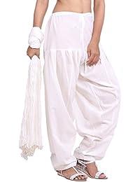 Jaipur Kurti Pure Cotton Patiala Salwar And Dupatta Set (Off White)