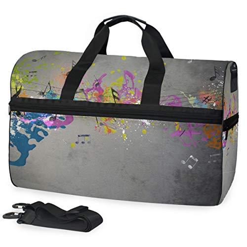 Ahomy - borsone da viaggio, unisex, colorato, per sport, palestra, con scomparto per scarpe, grande bagaglio