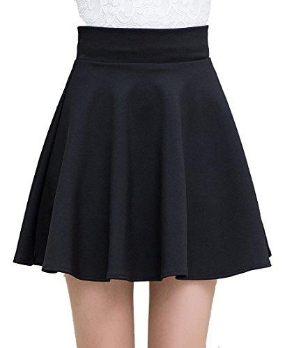 helan-womens-fashion-a-line-mini-skirts-umbrella-skirts-short-skirts-black-uk-6-8