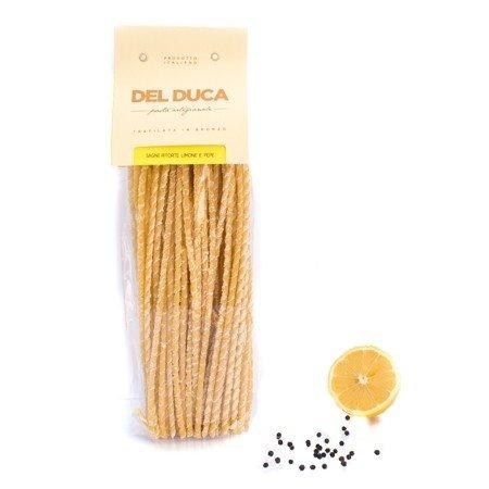 Sagne Ritorte di Semola di Grano Duro al Limone e Pepe 500g Pastificio Del Duca Box of 6 pieces Puglia Made in Italy
