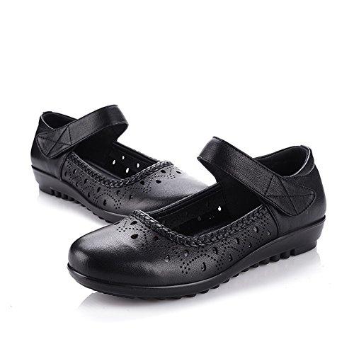 Mère sandales en été/Trous percés glisser vieilles chaussures/Chaussures de fond mou pour les personnes âgées D