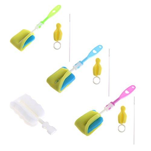 4 Teile/Satz Schwamm Pinsel Baby Flasche Tasse Glas Schnuller Waschen Sauberer Cleaner Tool - Baby-pinsel-flasche
