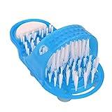 1 UNIDS Ducha Pie Pies Limpiador Lavadora Lavadora Pie Cuidado de la Salud Baño Hogar Piedra Masajeador Zapatillas Azul