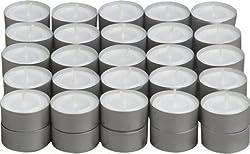 One Stop Shop® 100 pcs pack of Tea Light Candles smokeless 3.5 hrs burning