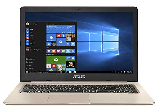 "Asus Vivobook Pro N580GD-DM264T Notebook con Monitor 15.6"" Fhd No Glare, Intel Core I7-8750H, HDD da 1 TB e 256 GB SSD, Gold Metal"
