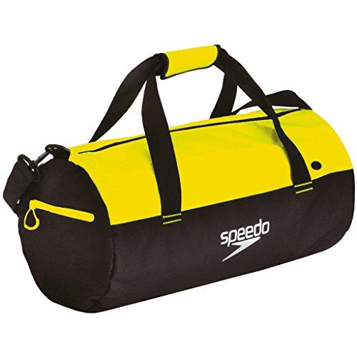 Speedo Duffel Bag Au, Borsa Unisex Adulto, Multicolore (Nero/Giallo Fluo), Taglia Unica