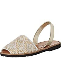 Minorquines Avarca Métal Azul amazon-shoes bianco Estate