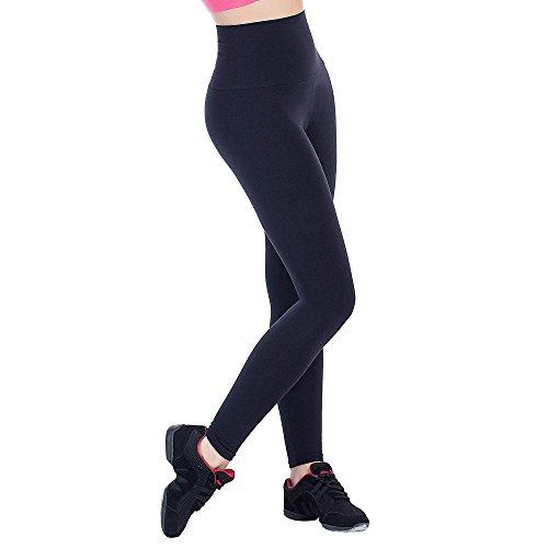 Bwell Sportswear 2387 - Legging Vientre Plano para Mujer, Color Negro, Talla XS